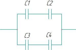 Смешанное соединение конденсаторов