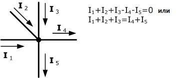 Пример Первого Закона Кирхгофа
