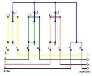Обмотки электросчетчика