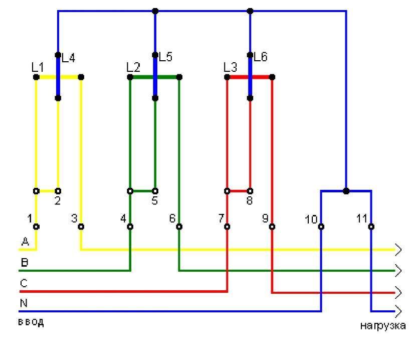 принцип работы 3-х фазный счётчик прямого включения са4-и678 уже