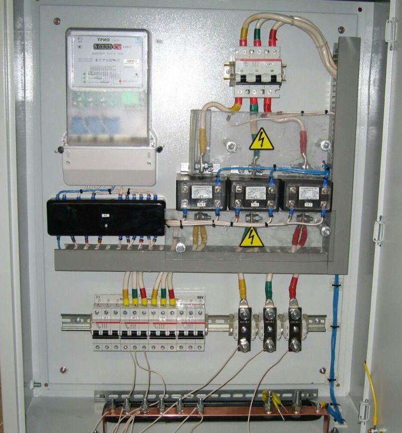 Щит учета схема трансформатор тока