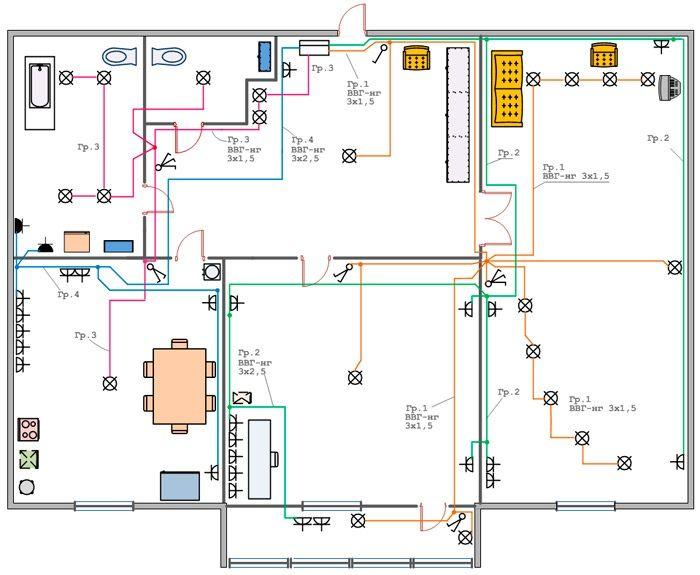 Как правильно начертить план электрикии найти блоки освещения