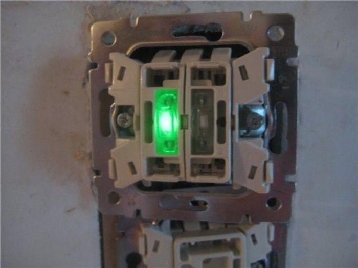 Как выключатель с подсветкой сделать без подсветки
