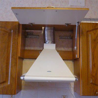 Как установить пристенную вытяжку на кухне своими руками