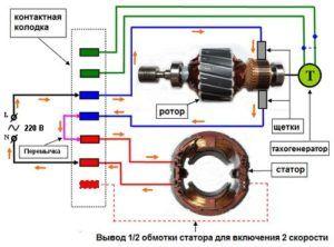 Схема включения напольного вентилятора