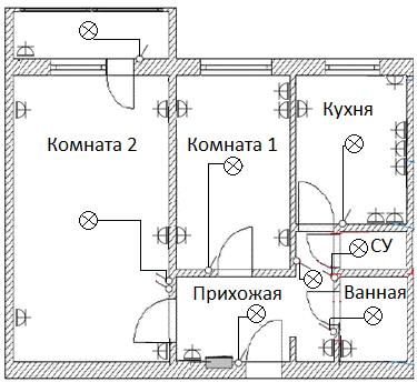Схема проводки в двухкомнатной квартире фото 84