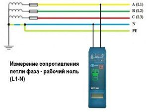 Схема подключения фаза ноль