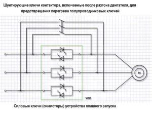 Плавный пуск асинхронного электродвигателя схема